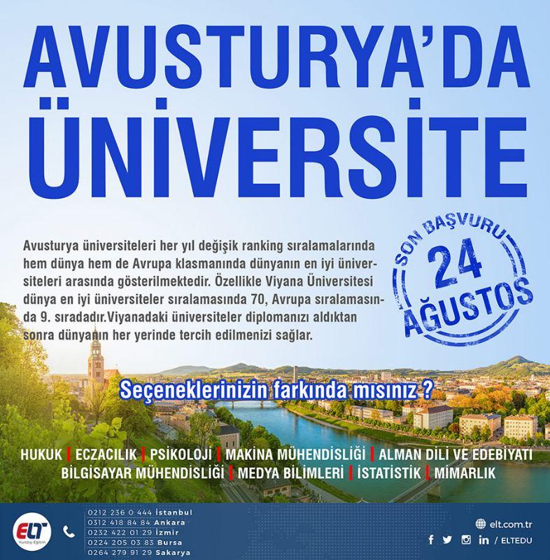 Avusturya'da lisans ve Master eğitimi
