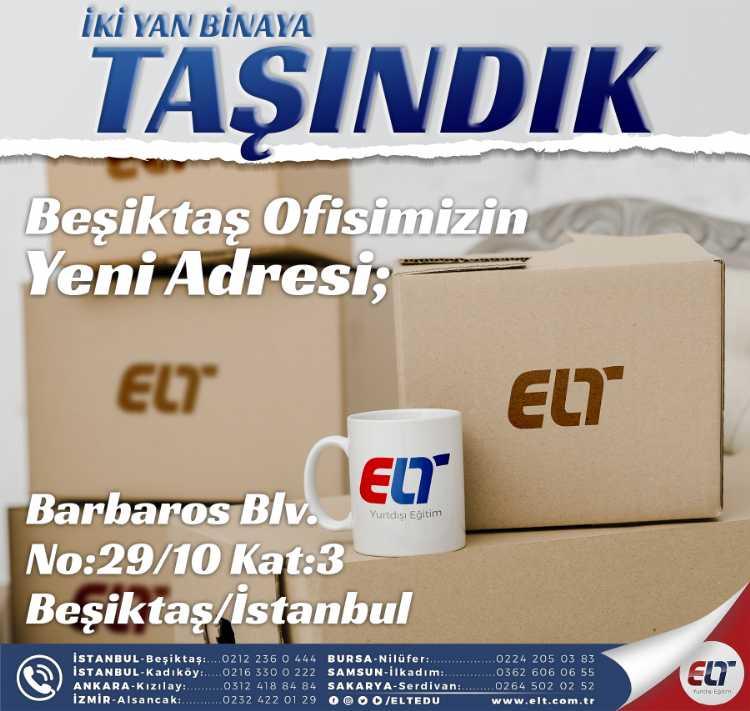 İstanbul Ofisi Adres Değişikliği
